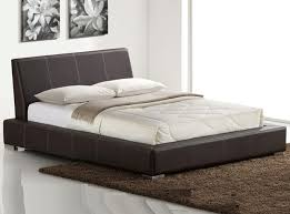 Leather Platform Bed Leather Platform Bed Spn 80