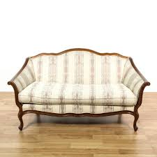 Cream Sofa And Loveseat This French Provincial Loveseat Is Upholstered In A Off White