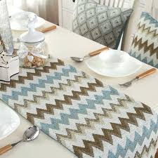 zig zag table runner zig zag table runners style vintage blue zigzag table runner with