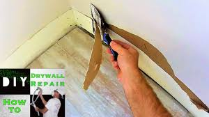 how to repair drywall damage after baseboards were removed youtube