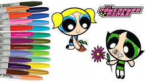 powerpuff girls buttercup and bubbles springtime coloring book