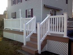 pvc vinyl stair railing classical and romantic vinyl stair