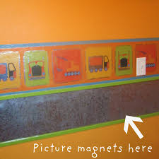 Lady Createalot Functional Magnetic Wall Borders YES - Wall borders for kids rooms