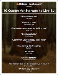 poster 10 quotes for startups to live by