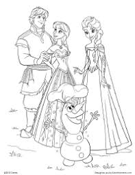 frozen kristoff anna elsa and olaf coloring page and other