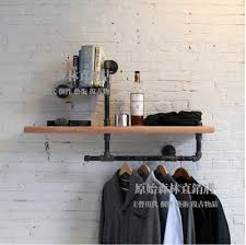 american style to do the old water pipe coat rack wrought iron