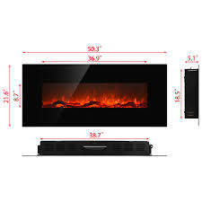 regal flame ashford 50 inch black ventless heater electric wall