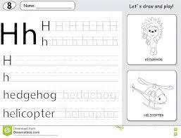 Free Alphabet Tracing Worksheets Cartoon Hedgehog And Helicopter Alphabet Tracing Worksheet Wri
