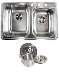 Top Kitchen Sinks 33 Inch Top Mount Drop In Stainless Steel Bowl Kitchen