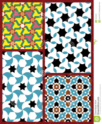 Moorish Design moorish seamless patterns set five royalty free stock photography