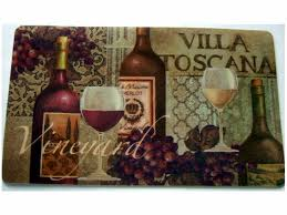 Grape Kitchen Canisters Tuscan Wine Grapes Kitchen Rug Cushion Mat The Perfect Rug For
