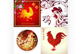 Chinese New Year Invitation Card Chinese New Year 2017 Greeting Cards Illustrations Creative Market