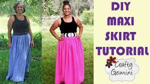 how to make a maxi skirt diy tutorial no elastic waistband youtube