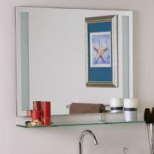 Beveled Bathroom Mirrors by Decor Wonderland Ricardo 31 5 In W X 23 6 In H Rectangular