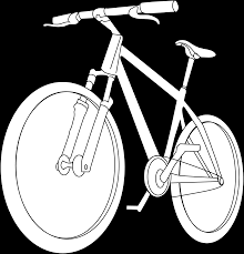 bicycle coloring page free clip art
