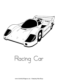 racing car colouring