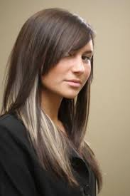how to add colour chunks to hairstyles 58 best peek a boo bangs hairstyles images on pinterest bang