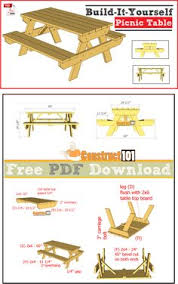 Make A Picnic Table Free Plans by How To Build A Picnic Table With Attached Benches Picnic Tables