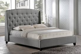 Cushioned Headboards For Beds Tate Dark Grey Upholstered Bed Crate And Barrel For Cheap Frame