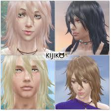 shaggy hair long hair version ts4 edition u2013 kijiko