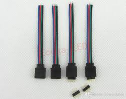 bulk led strip lights 2018 bulk 4 pin female and male rgb connectors wire cable for 3528