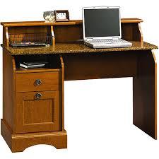 Maple Desk With Hutch Sauder Graham Hill Desk Autumn Maple Walmart