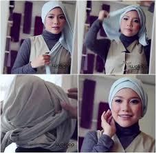 tutorial turban sederhana tutorial hijab turban tanpa peniti menggunakan round shawl