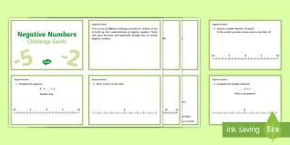 ks2 negative numbers primary resources integer ks2 page 1
