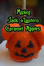 the disney diner mickey jack o u0027lantern caramel apples recipe