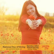 national day of giving givingtuesday tuesday after