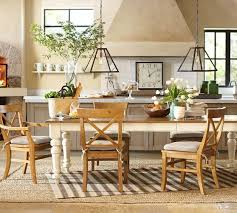 Pottery Barn Dining Room Tables Pottery Barn Dining Room Table White Chairs Pads Wooden Legs