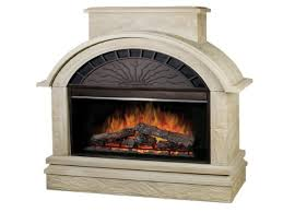 electric fireplace with stone fujise us