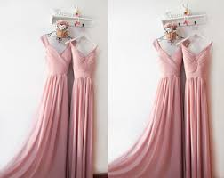 Dusty Rose Wedding Dress Dusty Pink Dress Etsy