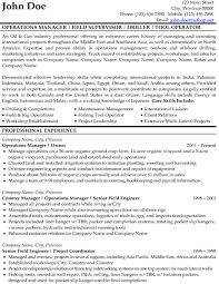 resume exle engineer driller resume exle exles of resumes