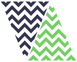 Free Green Printable Navy And Green Chevron Bunting Printables Packaging
