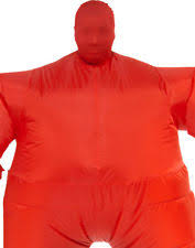 Fat Halloween Costumes Inflatable Red Blow Fat Suit Funny Mens Sumo Halloween