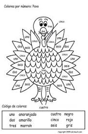 color by numbers in thanksgiving worksheet