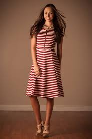 downeast dresses white stripe modest dress east basics modest