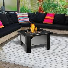 furniture romantic natural gas fire pit table bring warm nuance