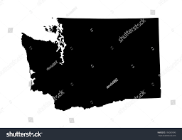 Washington State Map Outline by Washington State Vector Map Isolated On Stock Vector 196085990