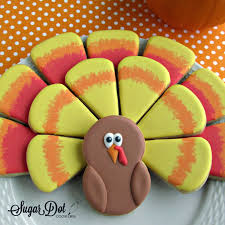 thanksgiving turkey cookie platter for thanksgiving sugar cookies
