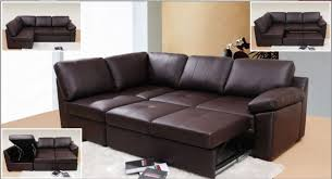 Sofa Bed Sectional Sofa Endearing Leather Sofa Bed Sectional Brown With Chaise