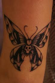 skull butterfly tat ideas butterfly