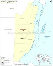 Blank Map Of Belize where is belmopan location of belmopan in belize map