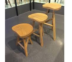 oak wood bar stools minimalist modern design solid oak wood bar stool low stool