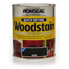 ronseal quick drying satin woodstain ebony 750ml at wilko com