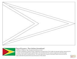 guyana flag coloring page funycoloring