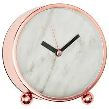 Small Desk Clock T Marble Effect Desk Clock Target And Gold