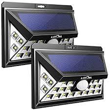 solar outdoor garage lights litom 24 led solar lights warm light super bright solar wall lights