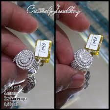 cincin emas putih jual cincin emas putih berlian eropa model simple di lapak